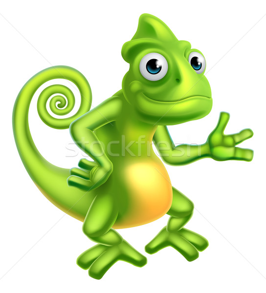 Cartoon Chameleon Stock photo © Krisdog