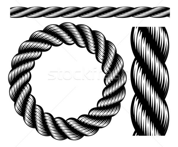 Rope Design Elements Stock photo © Krisdog