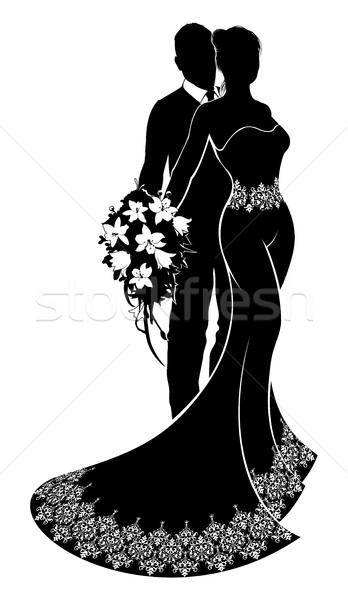 Stock photo: Bride and Groom Wedding Silhouette