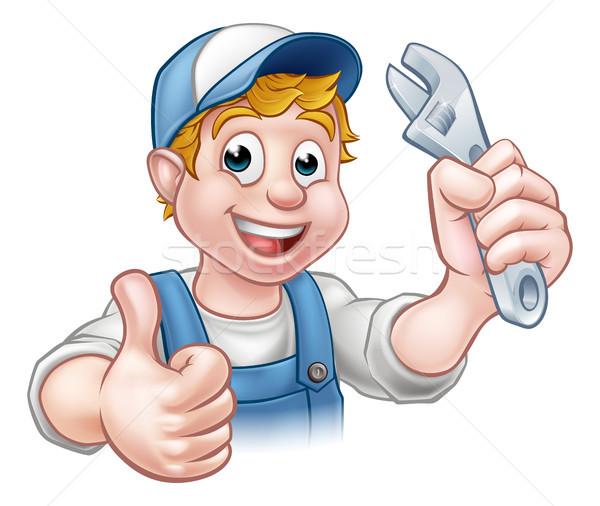 Cartoon Character Mechanic or Plumber Stock photo © Krisdog