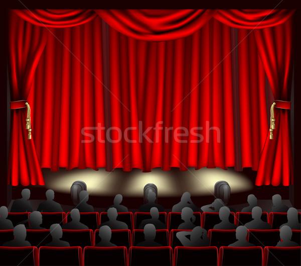 театра аудитории иллюстрация шторы фильма дизайна Сток-фото © Krisdog