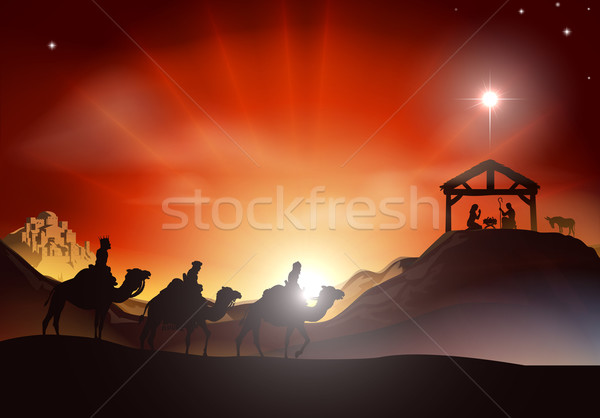 Traditional Christmas Nativity Scene Stock photo © Krisdog