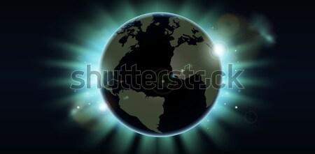 Мир мира затмение солнце непосредственно за Сток-фото © Krisdog