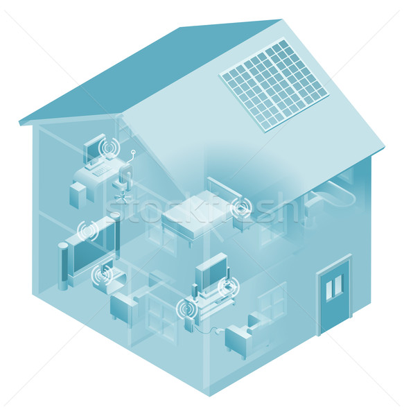 Stock photo: Home Local Area Network House