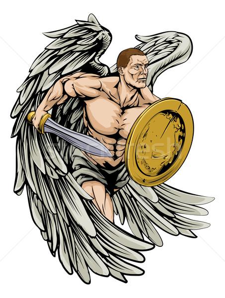 Sword and shield angel Stock photo © Krisdog