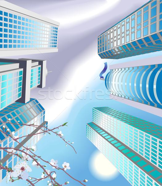 skyscrapers Illustration Stock photo © Krisdog