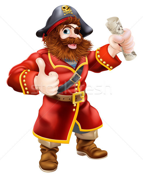 Stock photo: Cartoon thumbs up pirate