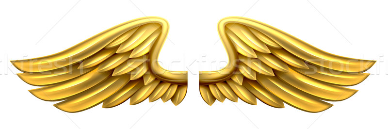Metal Gold Wings Stock photo © Krisdog
