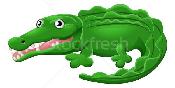 Krokodyla aligator zwierząt cute maskotka Zdjęcia stock © Krisdog