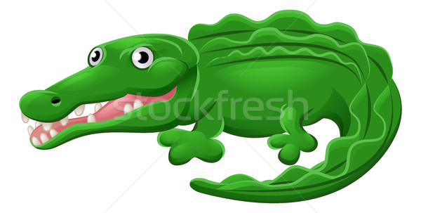 Krokodil aligátor állat rajzfilmfigura aranyos kabala Stock fotó © Krisdog