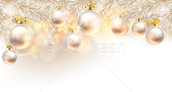 Christmas Baubles Background  Stock photo © Krisdog