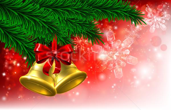 Christmas Tree Bells Background  Stock photo © Krisdog