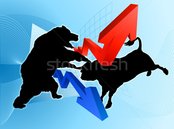 Bears Versus Bulls Stock Market Concept Stock photo © Krisdog