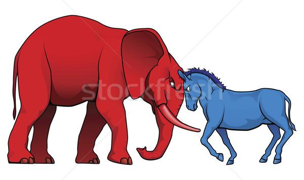 Americano político partes democrata republicano símbolos Foto stock © Krisdog