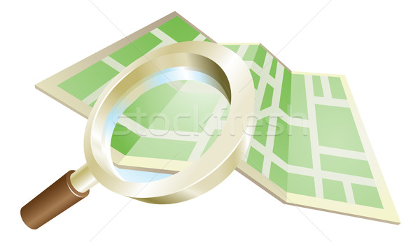 Magnifying glass map concept Stock photo © Krisdog