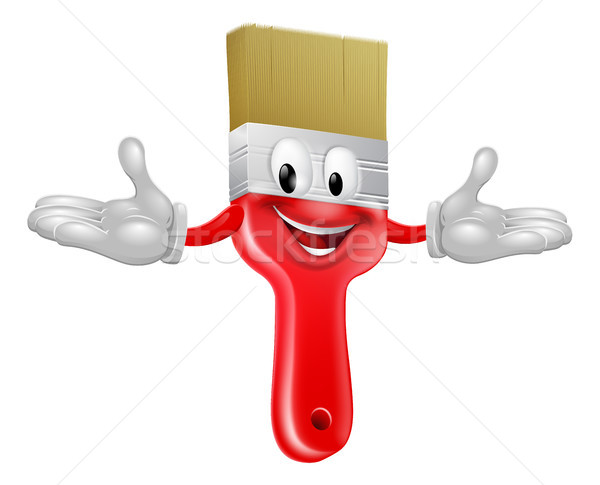 Paint brush mascot Stock photo © Krisdog