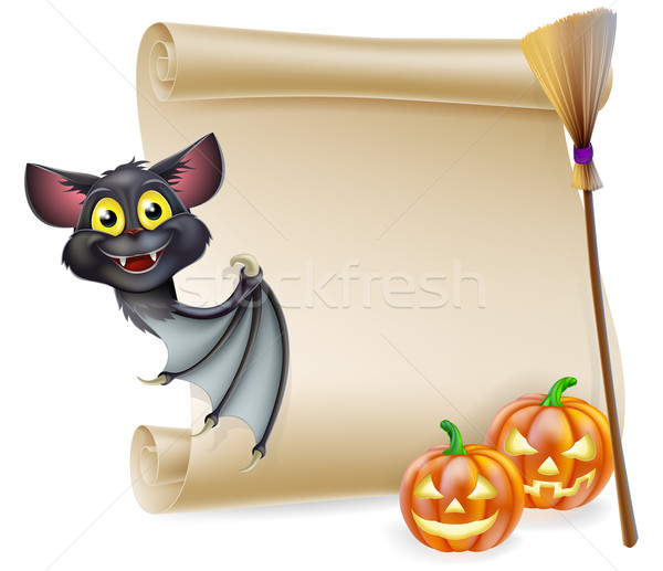 Halloween scroll with space Stock photo © Krisdog
