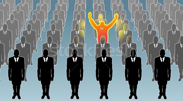 Individual negocios ilustración excepcional persona pie Foto stock © Krisdog