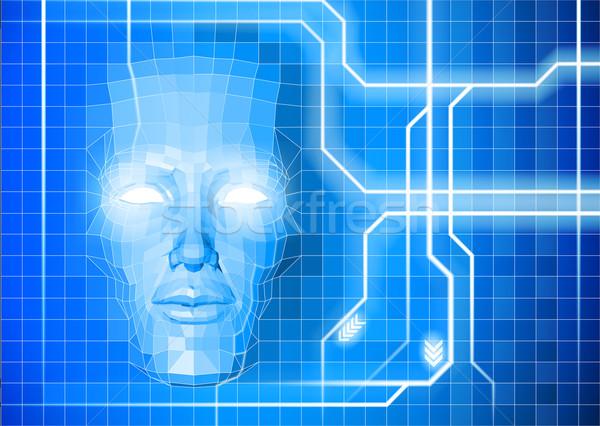 Face technology background concept Stock photo © Krisdog