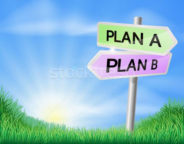 Plan plan b karar imzalamak alan işaret Stok fotoğraf © Krisdog