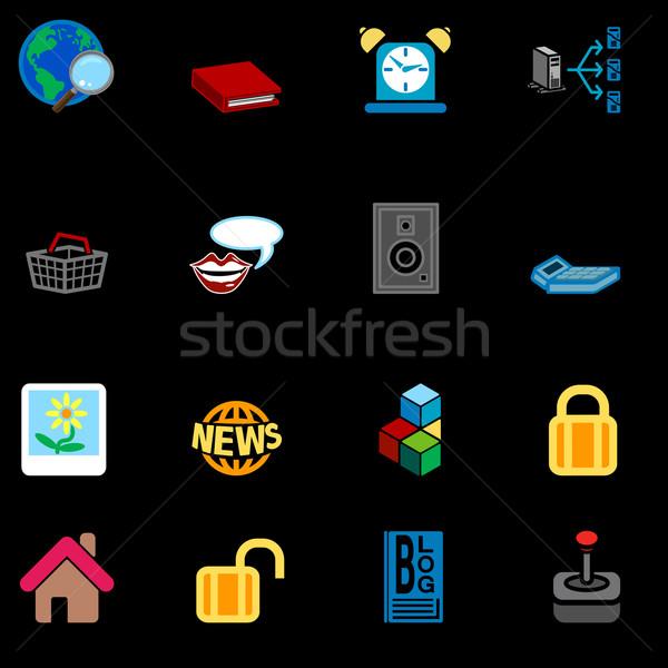 Internet ícone web conjunto os ícones do web negócio compras Foto stock © Krisdog