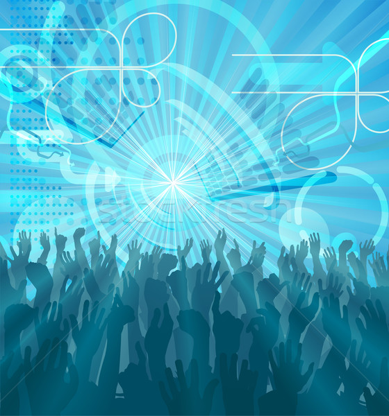 Stock photo: Party Crowd Abstract Party Background