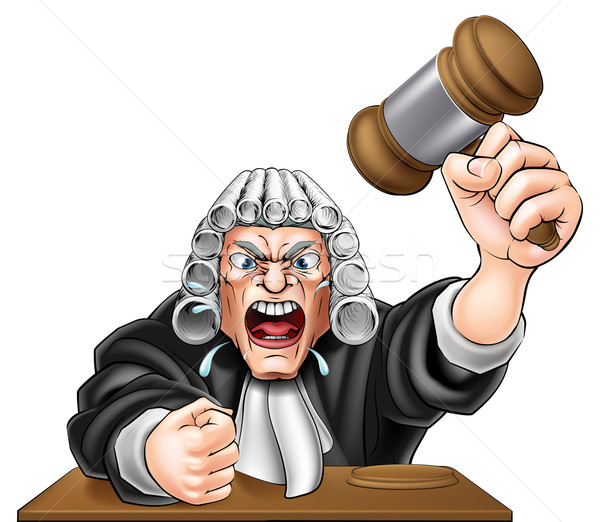 Cartoon Angry Judge Stock photo © Krisdog