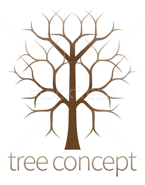 Tree icon Stock photo © Krisdog
