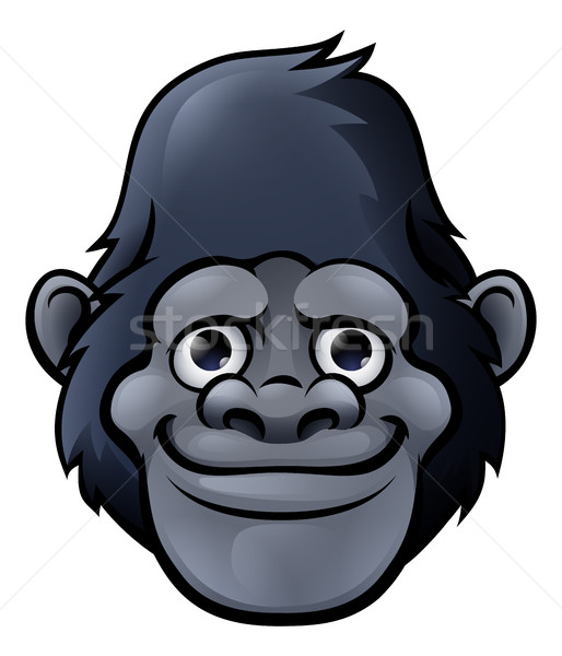 Cartoon Cute Gorilla Face Stock photo © Krisdog