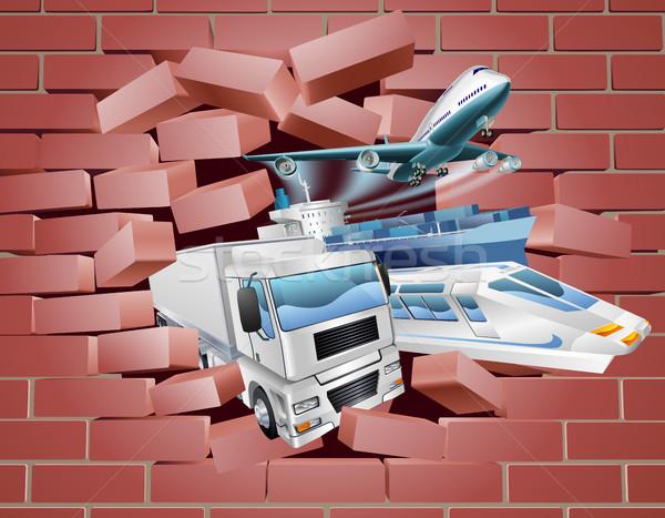 Transport Logistics Cargo Wall Concept Stock photo © Krisdog