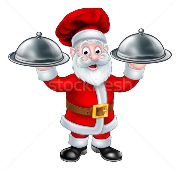 Santa Christmas Chef Character Stock photo © Krisdog