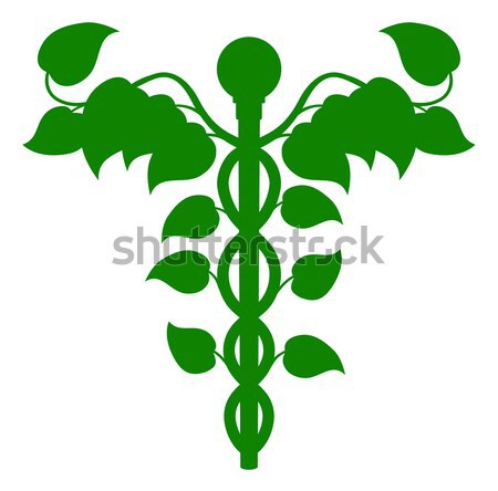 Cannabis Medical Marijuana Caduceus Stock photo © Krisdog