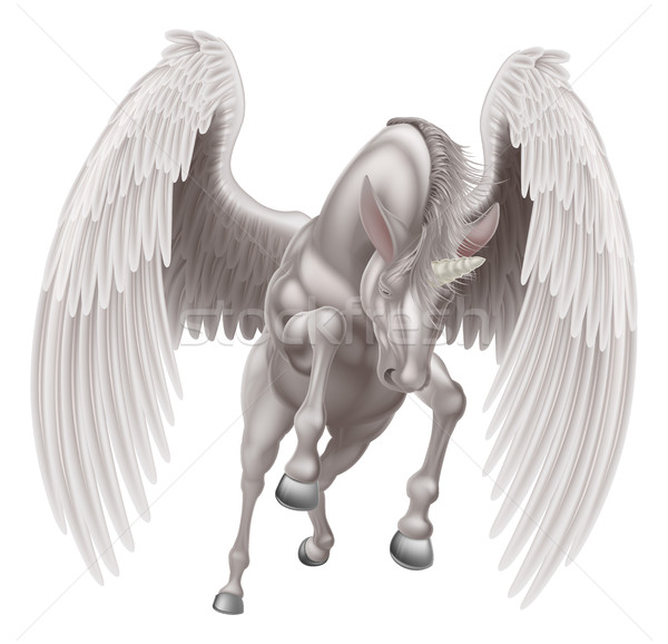 Pegasus Unicorn Winged Horned Horse Stock photo © Krisdog