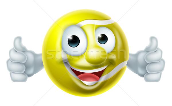 Cartoon balle de tennis homme mascotte personnage Photo stock © Krisdog
