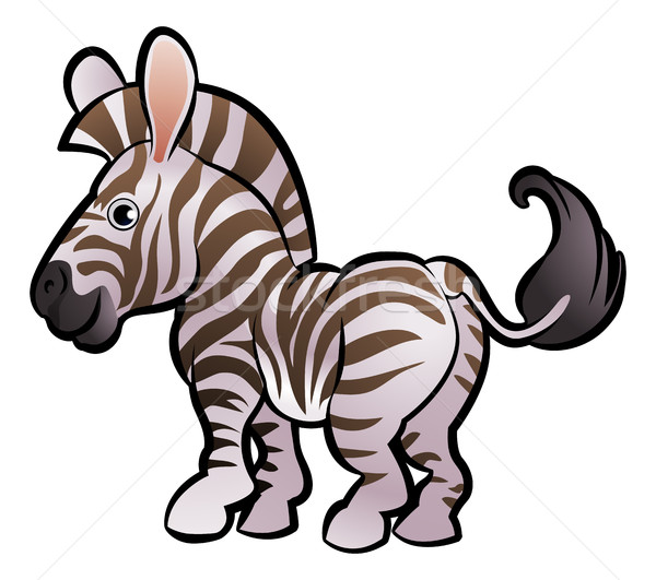 Zebra Safari Animals Cartoon Character Stock photo © Krisdog