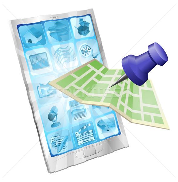 Phone map app concept Stock photo © Krisdog