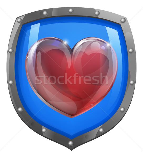 Heart shield concept Stock photo © Krisdog