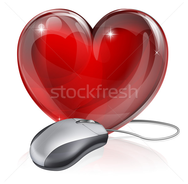 Online dating concept Stock photo © Krisdog