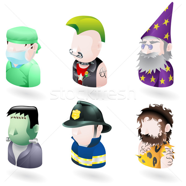 Stock photo: avatar people internet icon set
