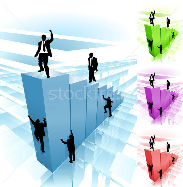 climber business concept illustration Stock photo © Krisdog