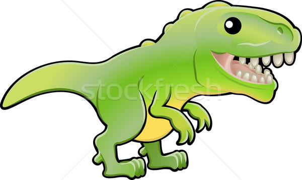 Cute tyrannosaurus rex dinosaur illustration Stock photo © Krisdog