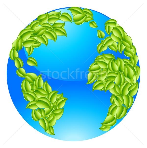 Green Leaves Globe Earth World Concept Stock photo © Krisdog