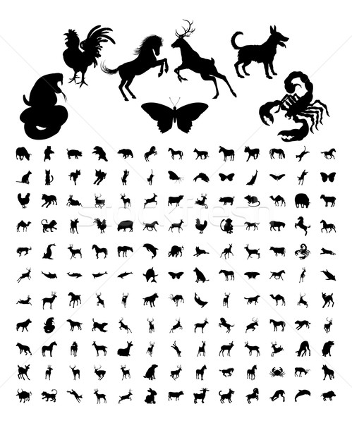 Animal Silhouettes Bundle Stock photo © Krisdog