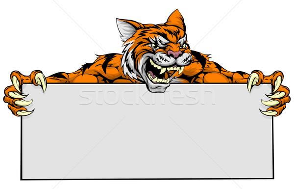 Tiger sign Stock photo © Krisdog