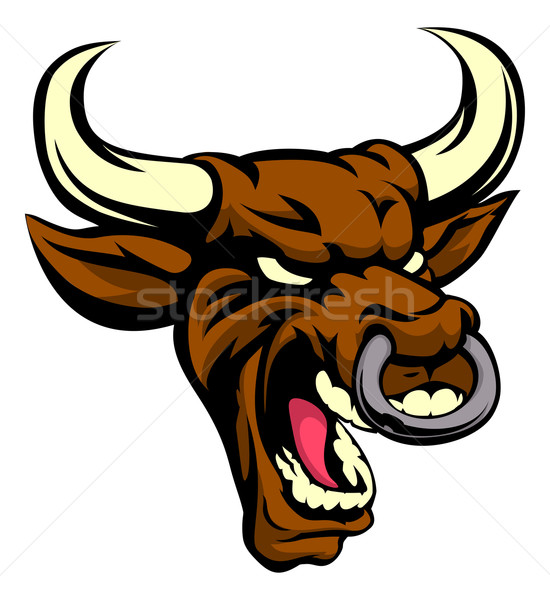 Bull Mean Animal Mascot Stock photo © Krisdog