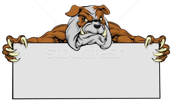 Bulldog Sports Mascot Sign Stock photo © Krisdog
