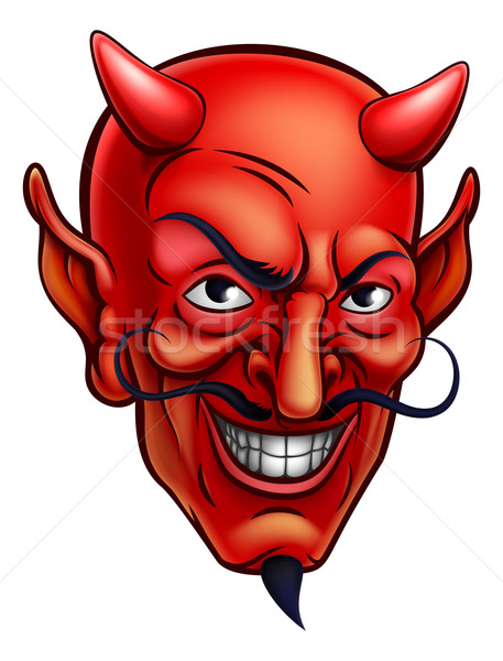 Devil Face Cartoon Stock photo © Krisdog