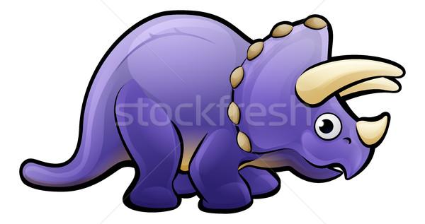 Dinozor hayvanlar mutlu eğlence komik Stok fotoğraf © Krisdog