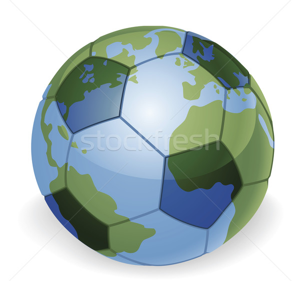 World globe soccer ball concept Stock photo © Krisdog