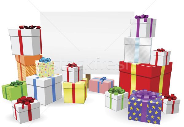 Presents and Sign Concept Stock photo © Krisdog